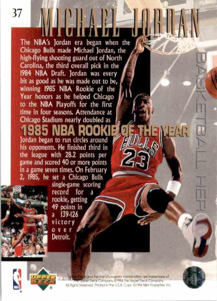 1994 95 Upper Deck Michael Jordan 37 On Kronozio