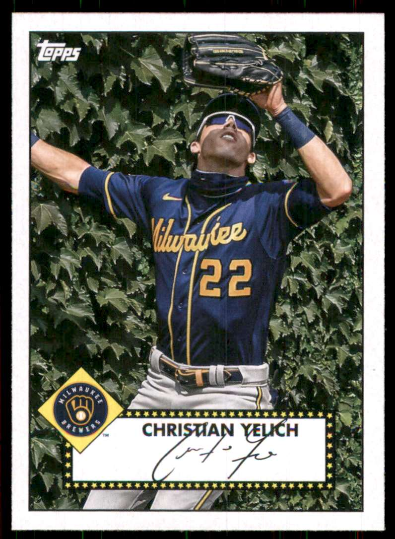 2021 Topps '52 Topps Redux Christian Yelich #T5250 card front image