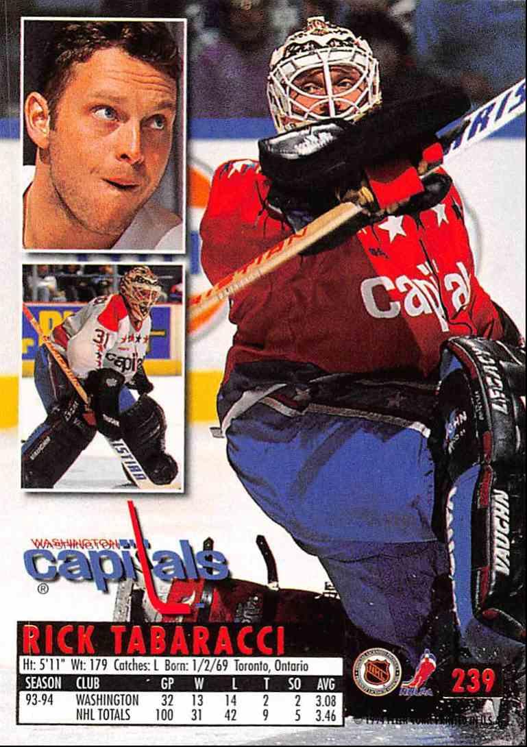 1994-95 Ultra Rick Tabaracci #239 card back image