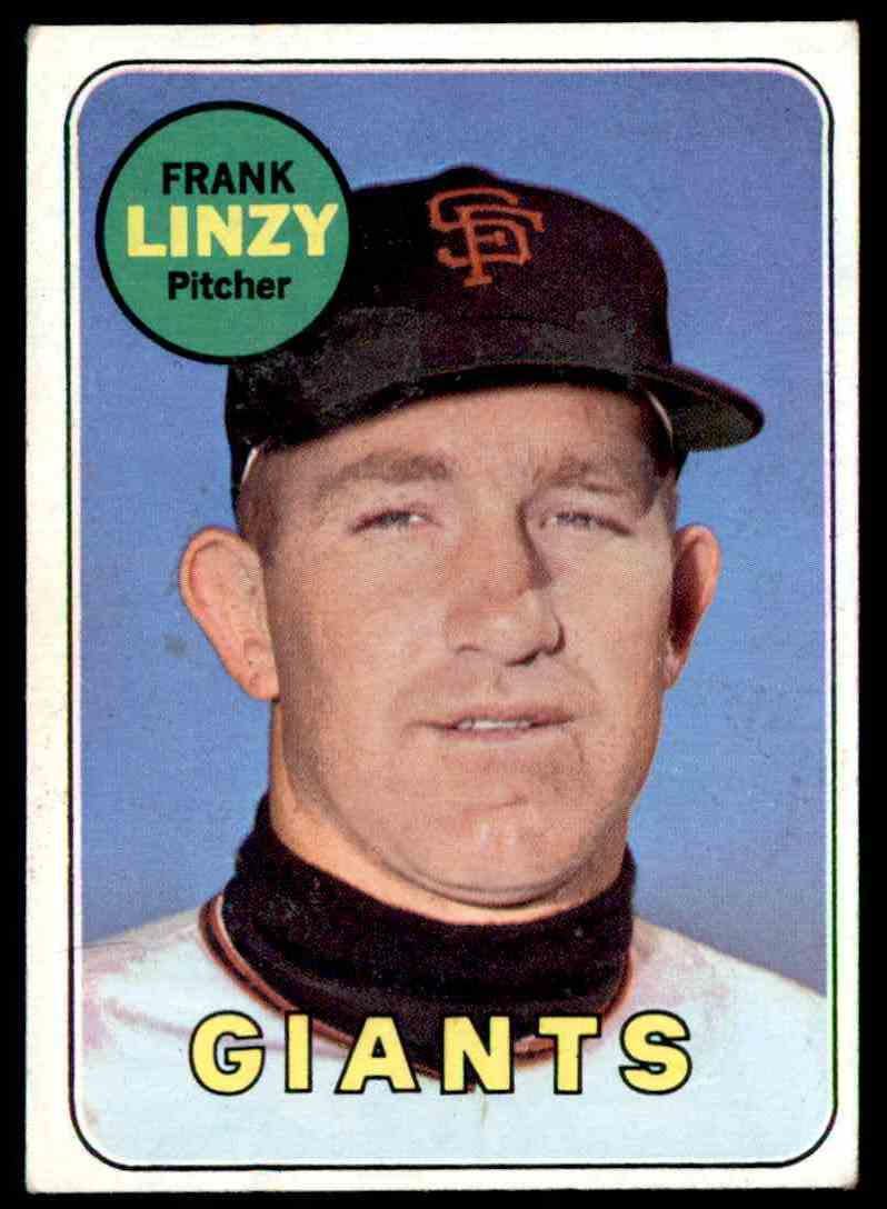 1969 Topps Frank Linzy #345 card front image