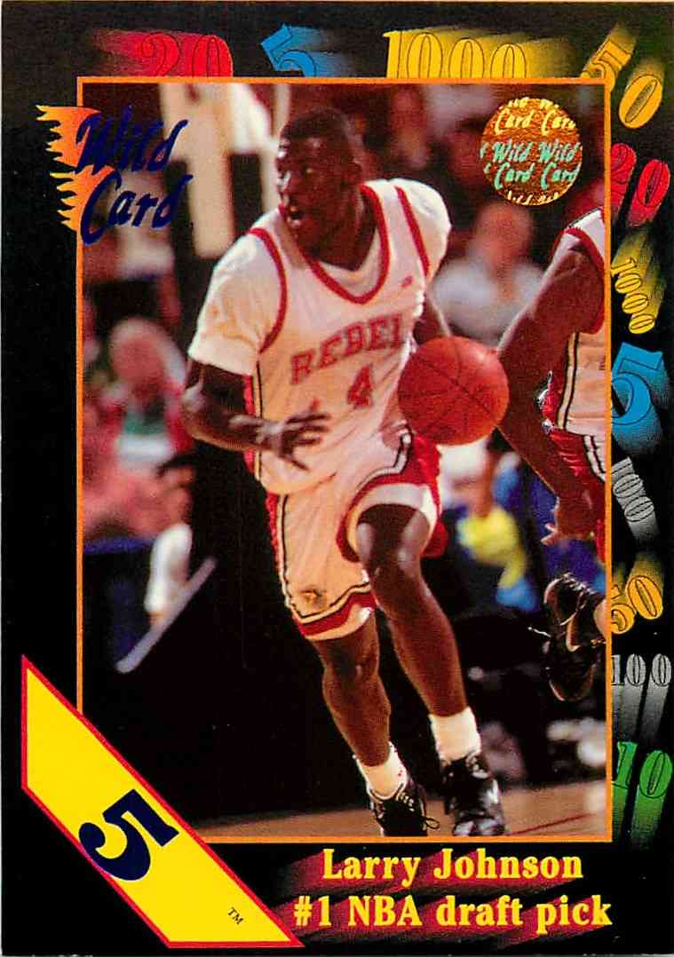 1992-93 Wild Card Larry Johnson #1 card front image
