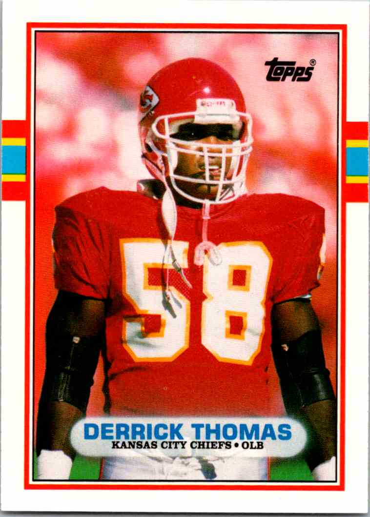 1989 Topps Traded Derrick Thomas #90T card front image