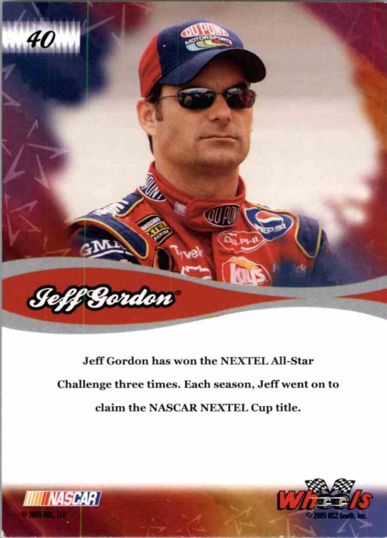 2005 Wheels American Thunder All Star Jeff Gordon #40 card back image