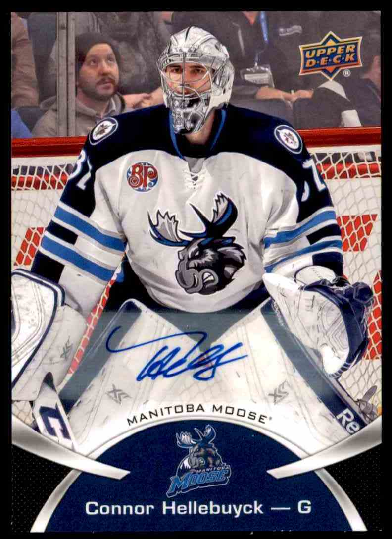 2015-16 Upper Deck AHL Connor Hellebuyck #5 card front image