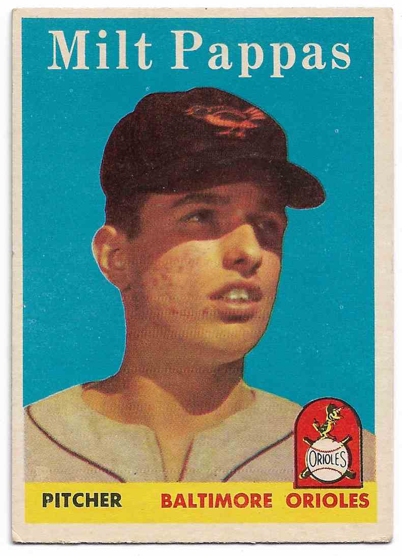 1958 Topps Milt Pappas #457 card front image