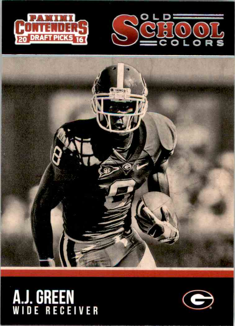 2016 Panini Contenders Draft Picks Old School Colors A.J. Green #1 card front image