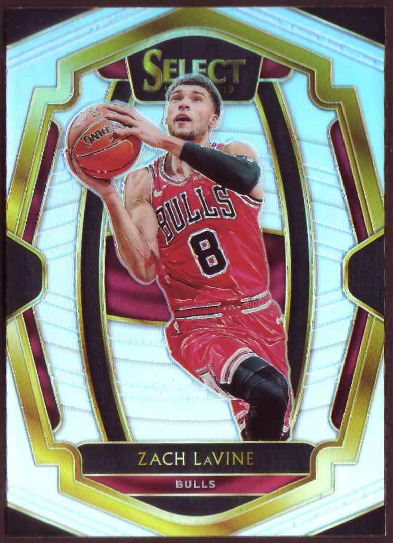 2018-19 Panini Select Premium Level Prizm Silver Zach LaVine #199 card front image