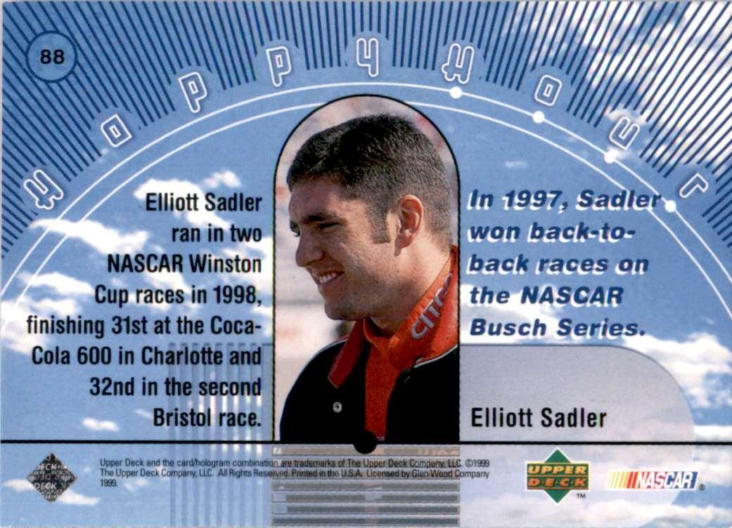 1999 Upper Deck Road To The Cup Elliott Sadler Hh #88 card back image