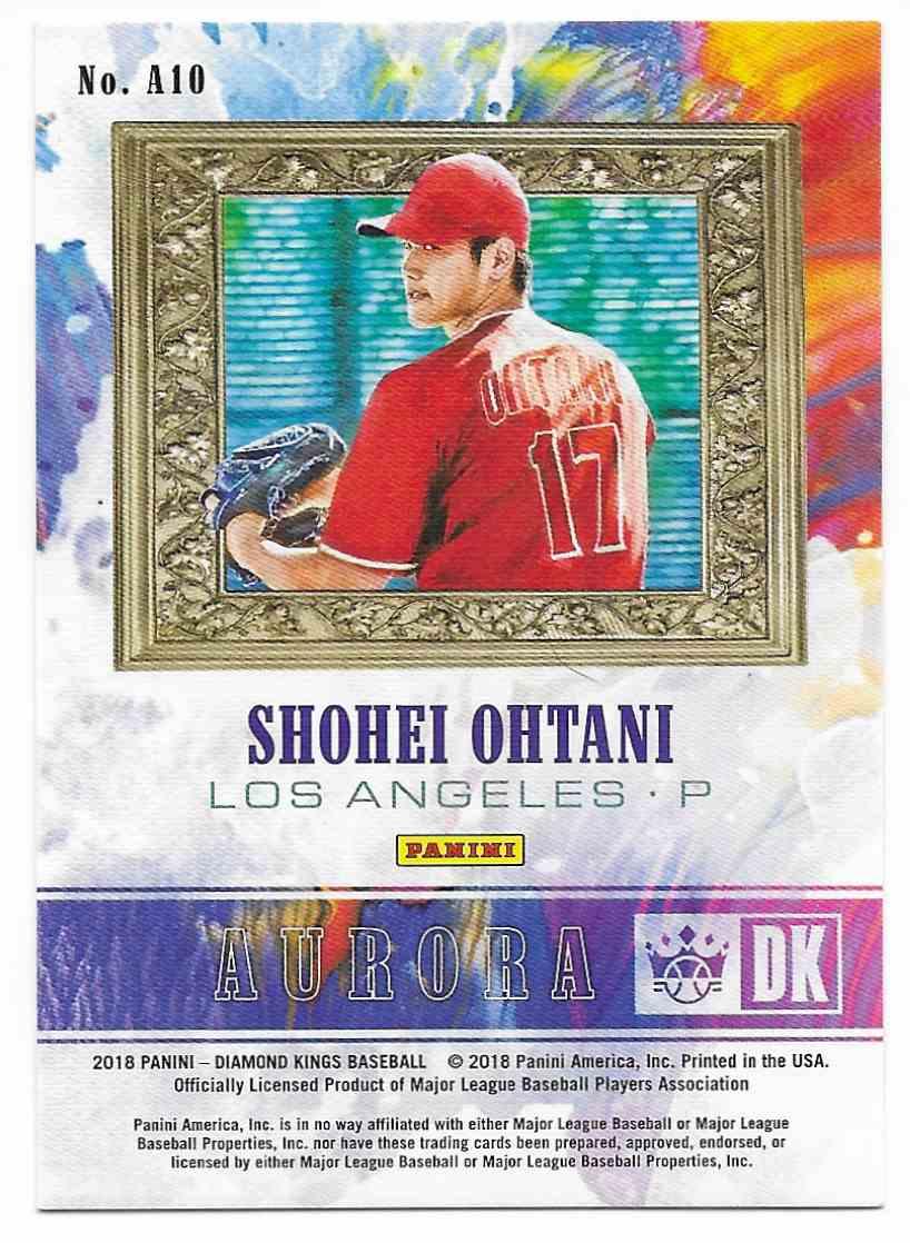 2018 Diamond Kings Aurora Shohei Ohtani #A10 card back image