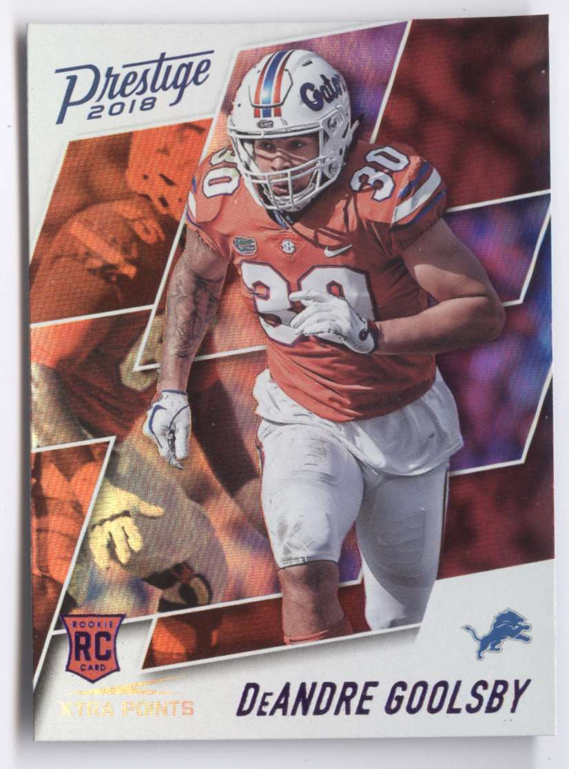 2018 Panini Prestige Extra Points Purple DeAndre Goolsby #230 card front image