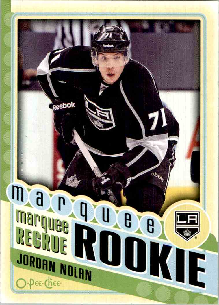 2012-13 O-Pee-Chee Marquee Rookie Jordan Nolan #574 card front image