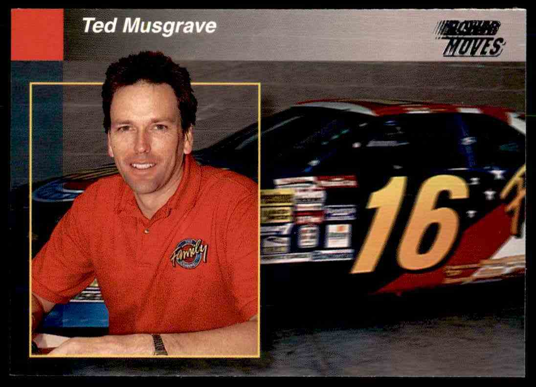 1994 Pro Set Power Racing Ted Musgrave #PREVIEW 4 card front image