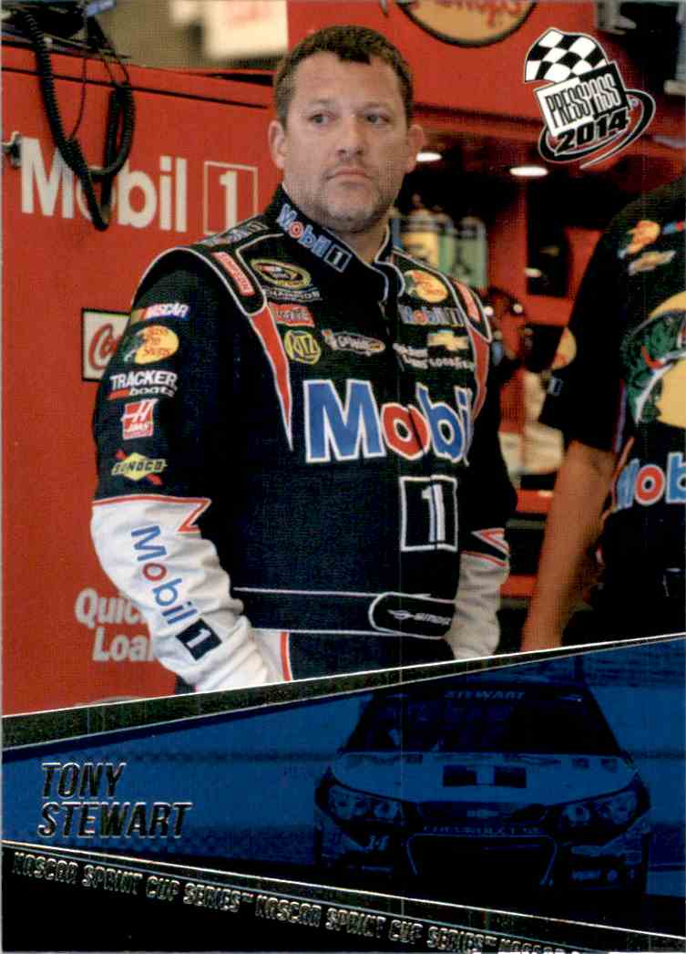 2014 Press Pass Tony Stewart #37 card front image