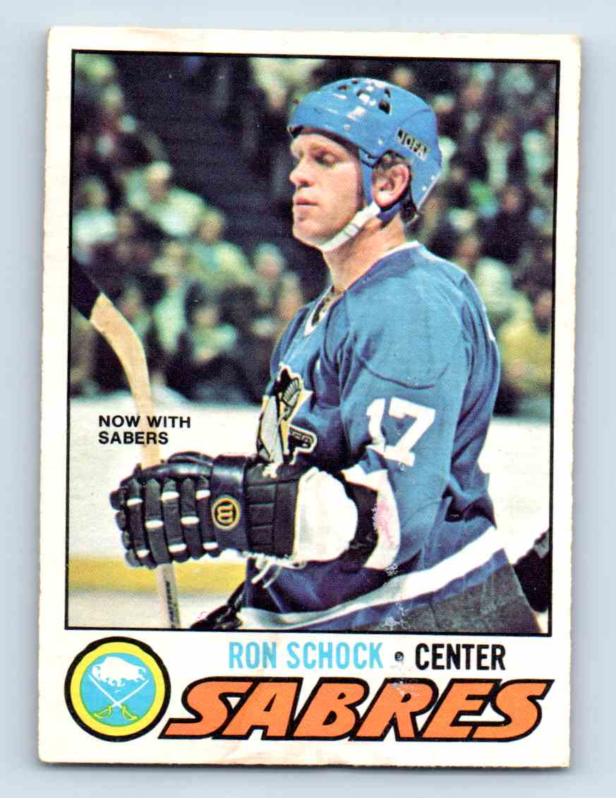1977-78 O-Pee-Chee ! Ron Schock #51 card front image