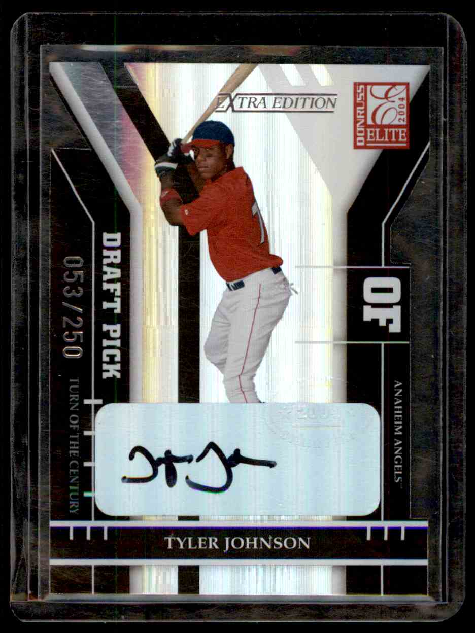 2004 Donruss Elite Extra Edition Signature Turn Of The Centrury Tyler Johnson #354 card front image