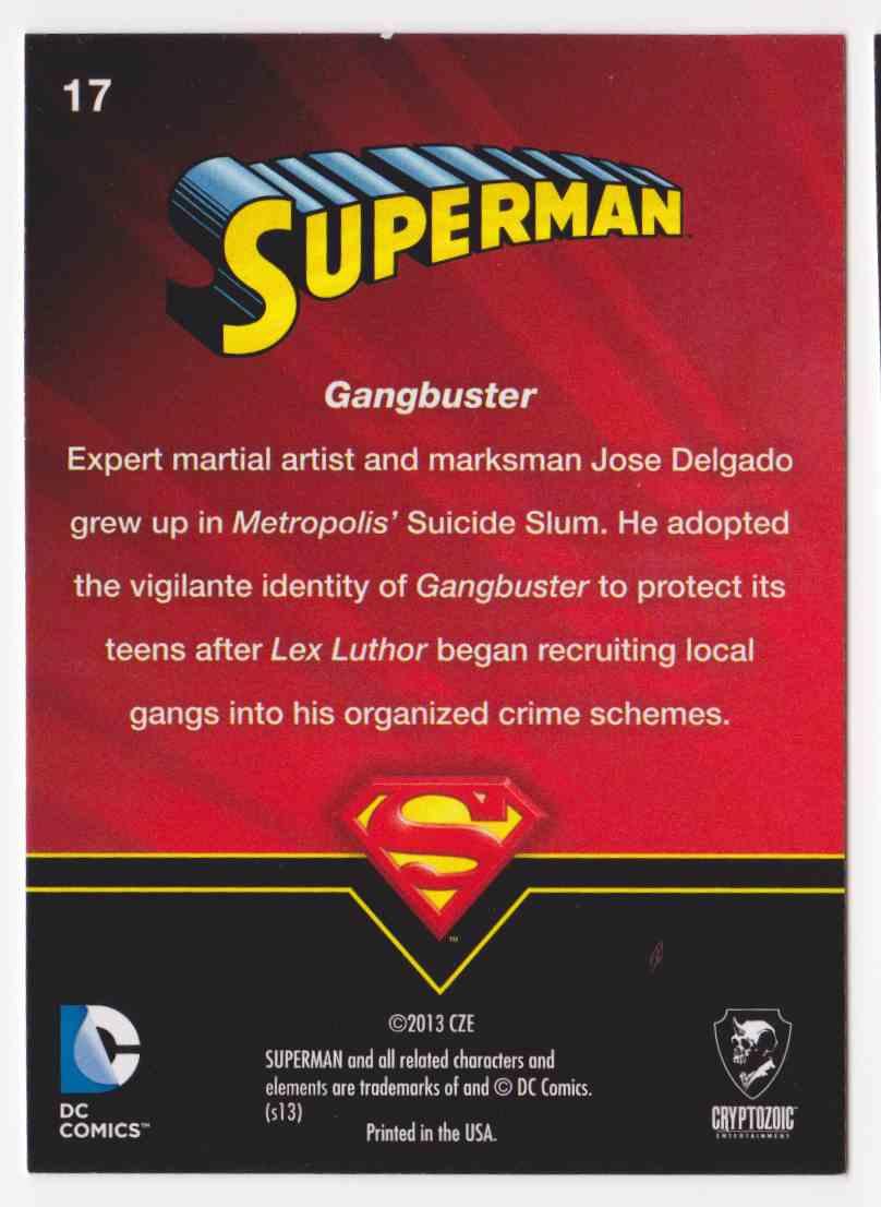2013 Superman Cryptozoic Superman #17 card back image