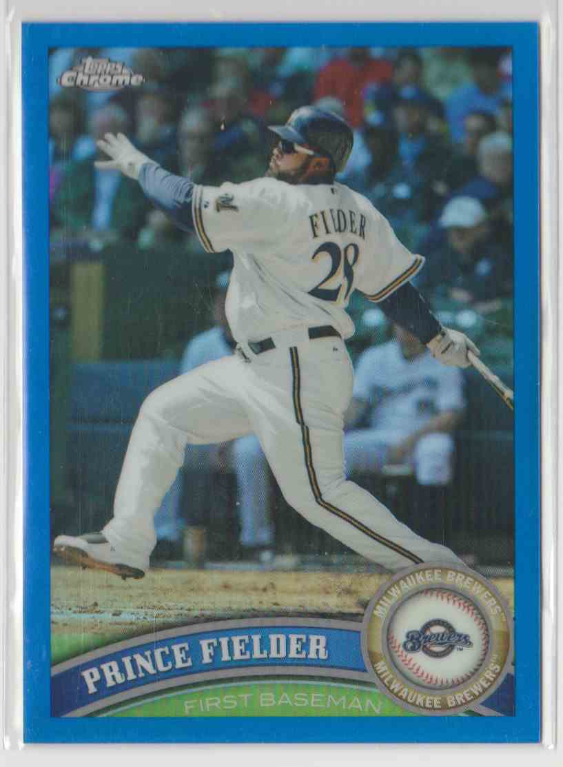 2011 Topps Chrome Blue Refractors Prince Fielder #9 card front image