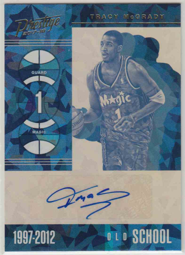 bf7ce3e4432f 2017-18 Panini Prestige Old School Signatures Crystal Tracy McGrady  OS-TMG  card