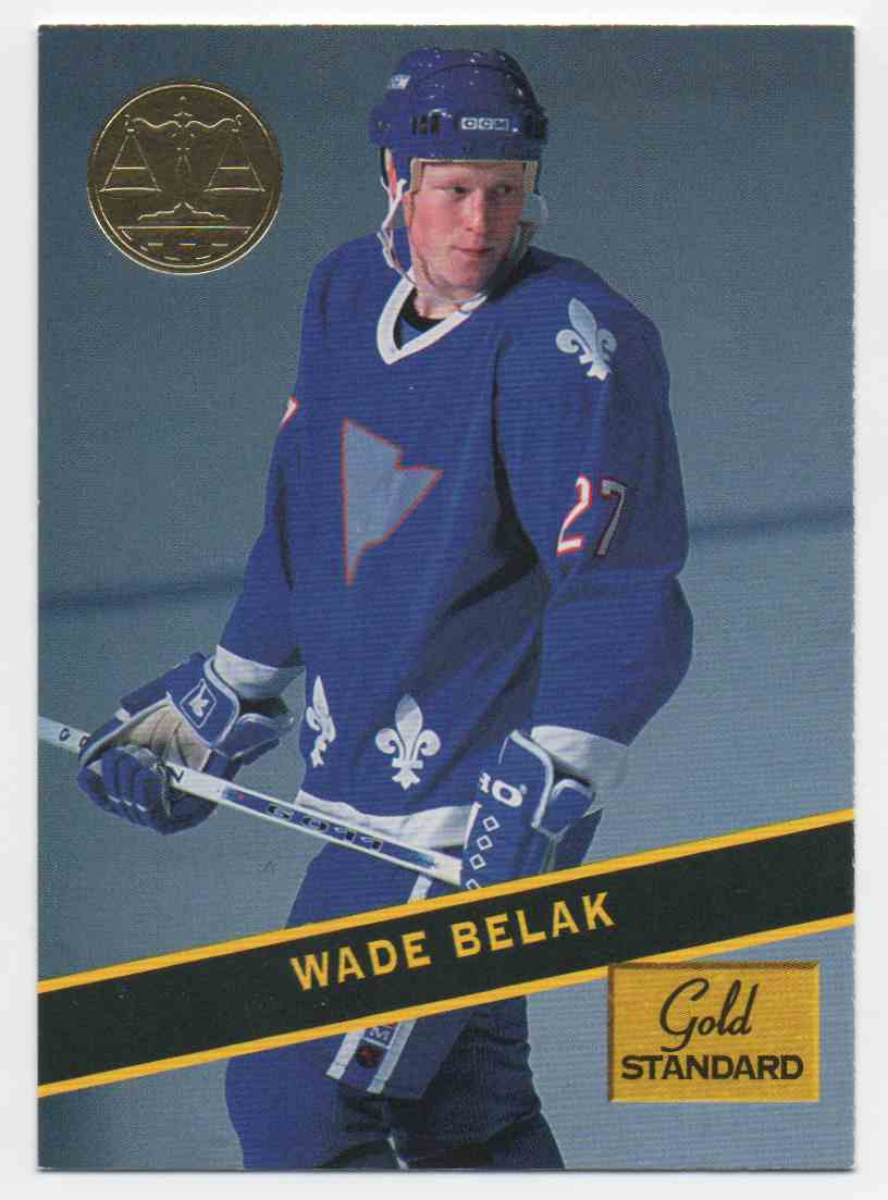 1994-95 Signature Rookies Gold Standard Wade Belak #77 card front image