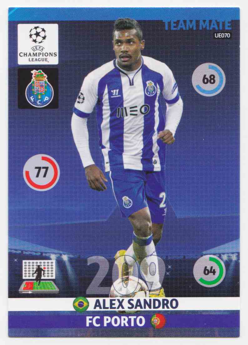 2014 Panini Adrenalyn XL Uefa Champions League Season Update Base Team Mate Alex Sandro #UE070 card back image