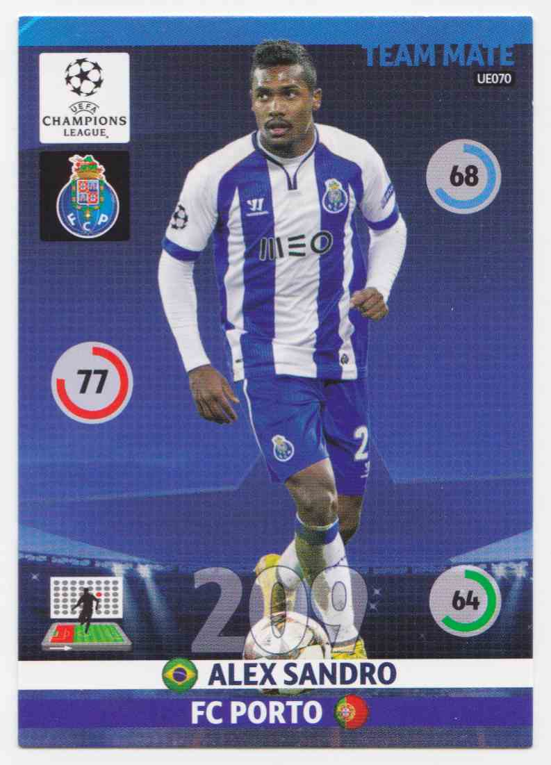 2014 Panini Adrenalyn XL Uefa Champions League Season Update Base Team Mate Alex Sandro #UE070 card front image