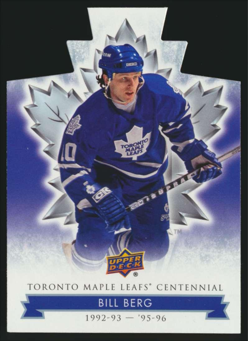 2017-18 UD Maple Leafs Centennial Die Cut Bill Berg #53 card front image