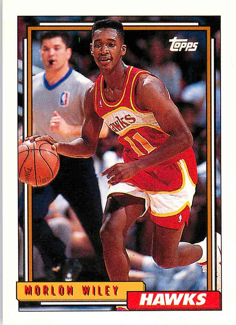 1992-93 Topps Morlon Wiley #295 card front image