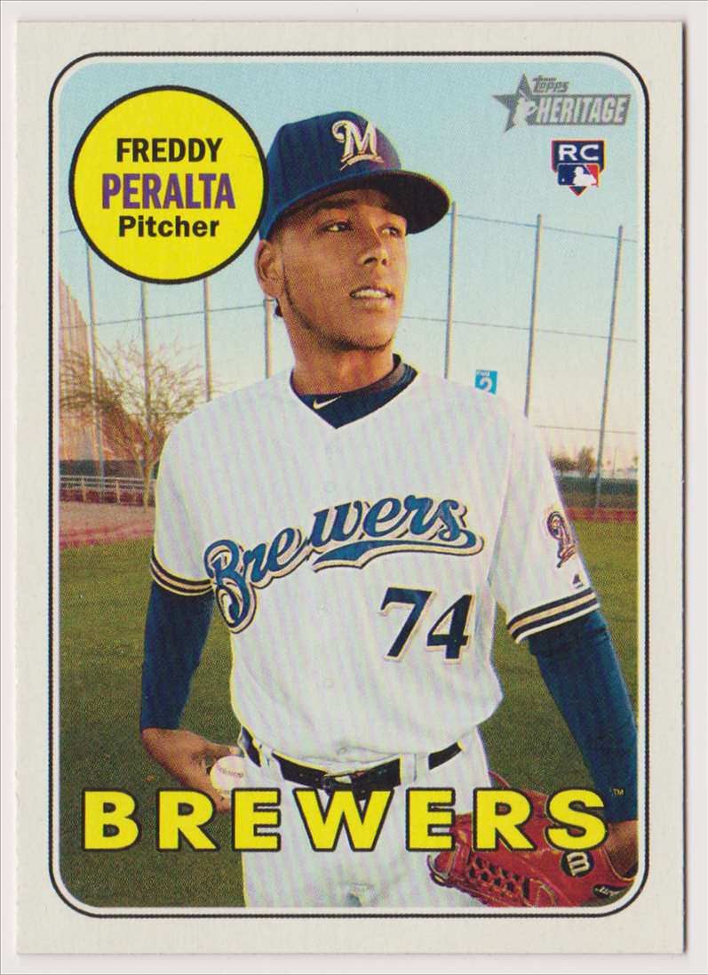 2018 Topps Heritage Freddy Peralta #541 card front image