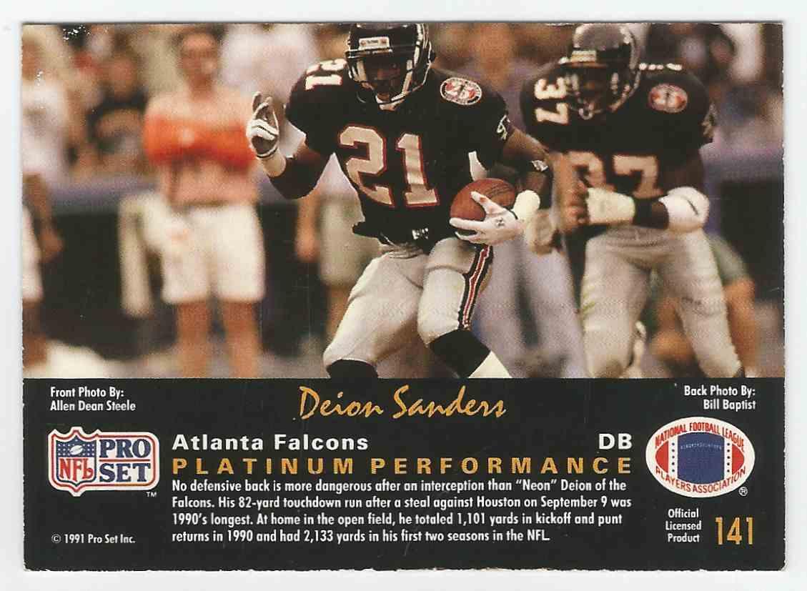 1991 Pro Set Platinum Deion Sanders Platinum Performance