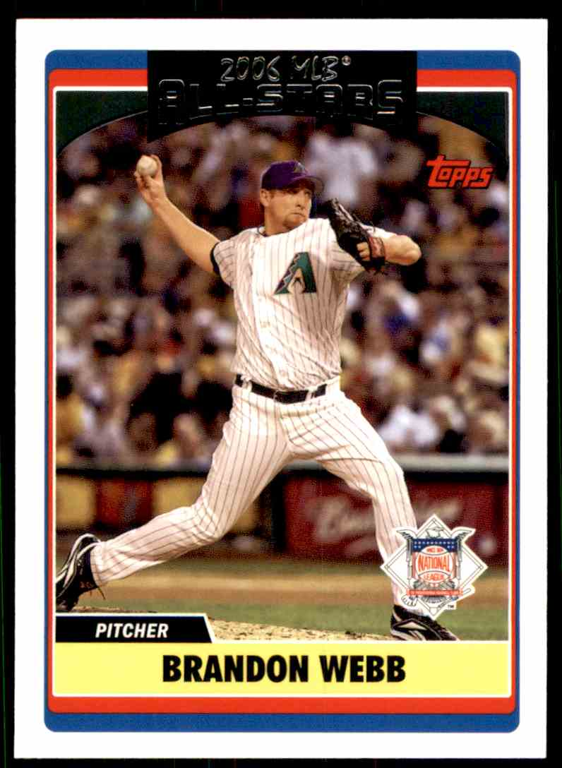 2006 Topps Update Brandon Webb As #UH276 card front image