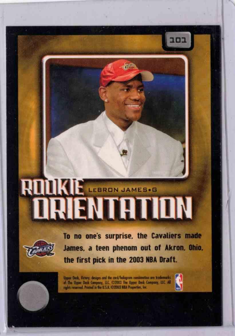 2003-04 Upper Deck Victory Lebron James #101 card back image