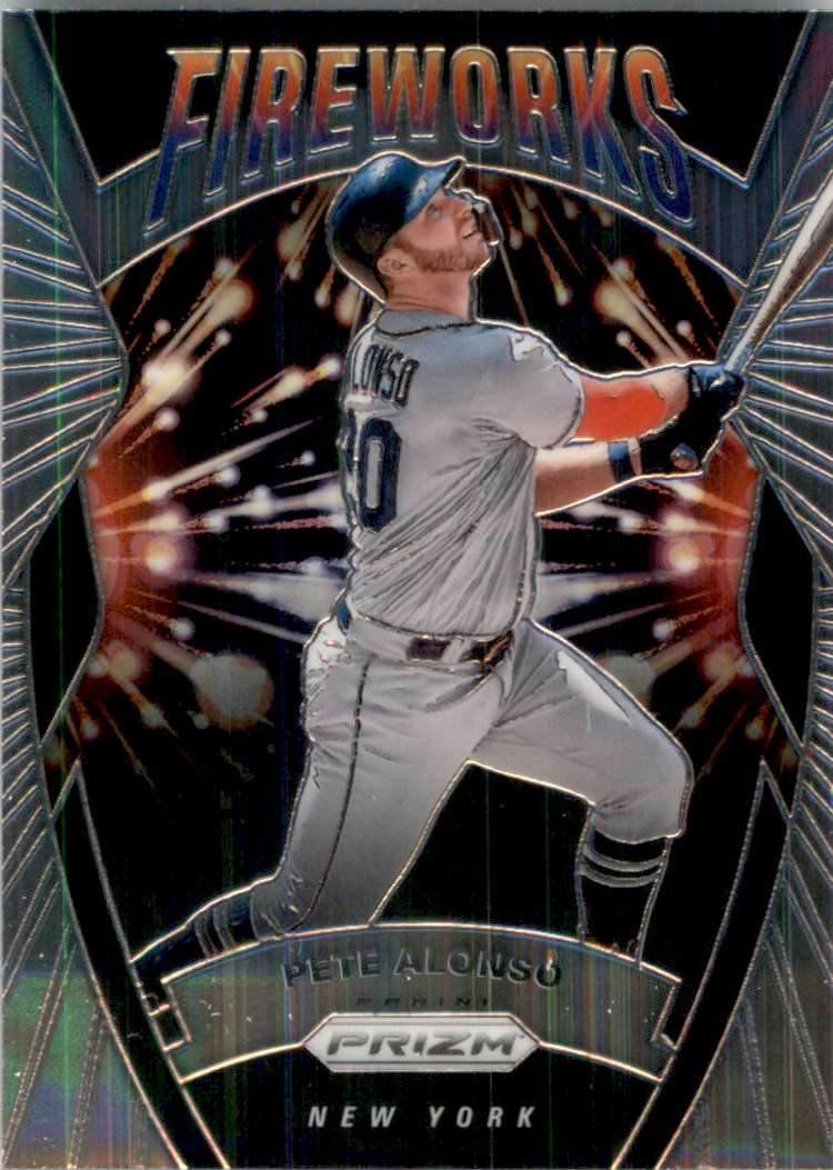 2020 Panini Prizm Fireworks Pete Alonso #2 card front image