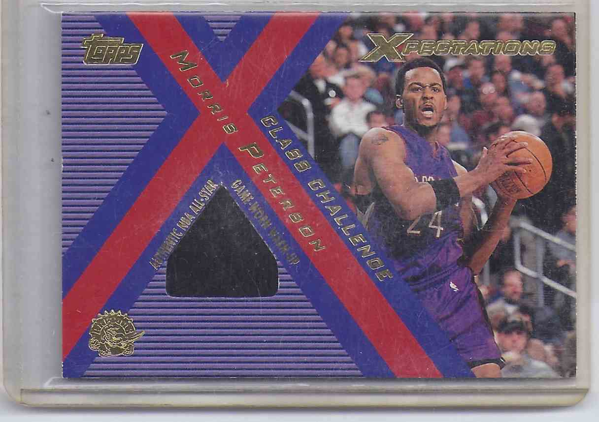 2001-02 Topps Xpectations Class Challenge Morris Peterson #CCMP card front image