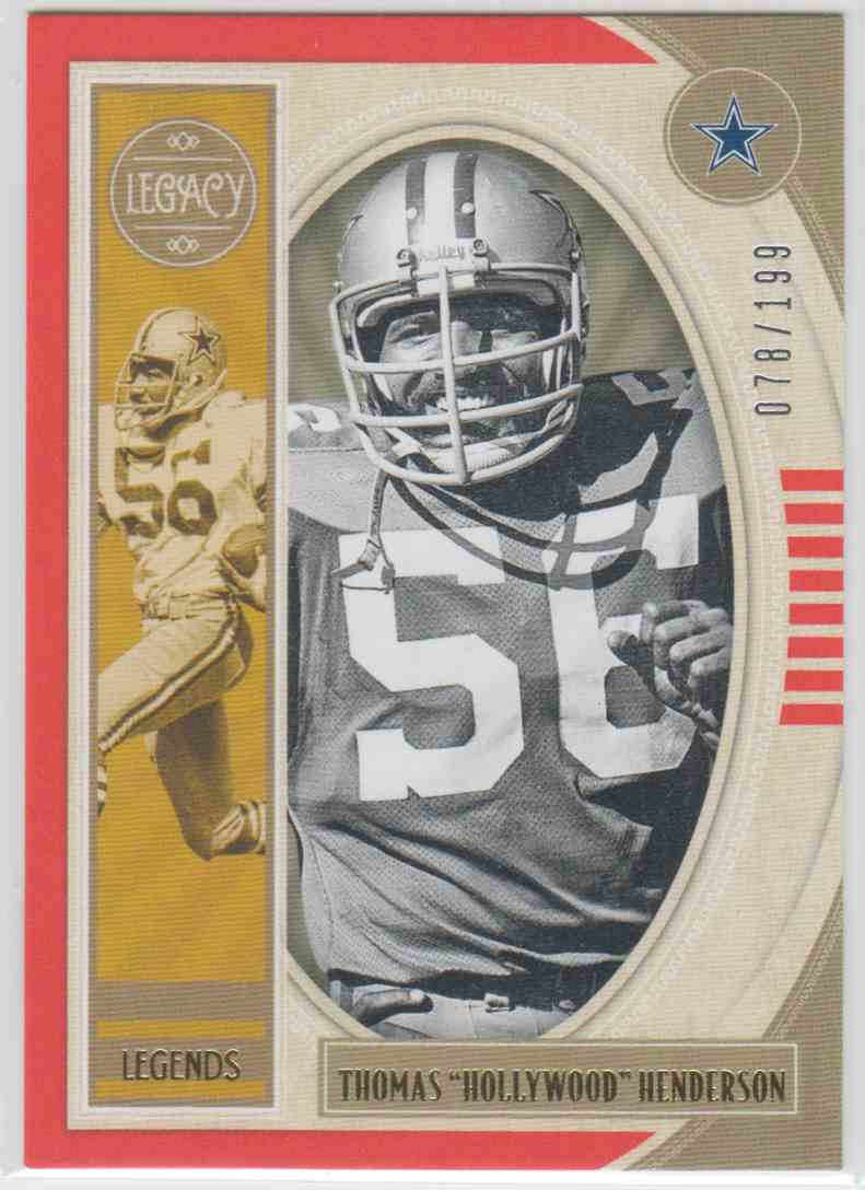 "2019 Panini Legacy Legends Orange Thomas ""Hollywood"" Henderson #136 card front image"
