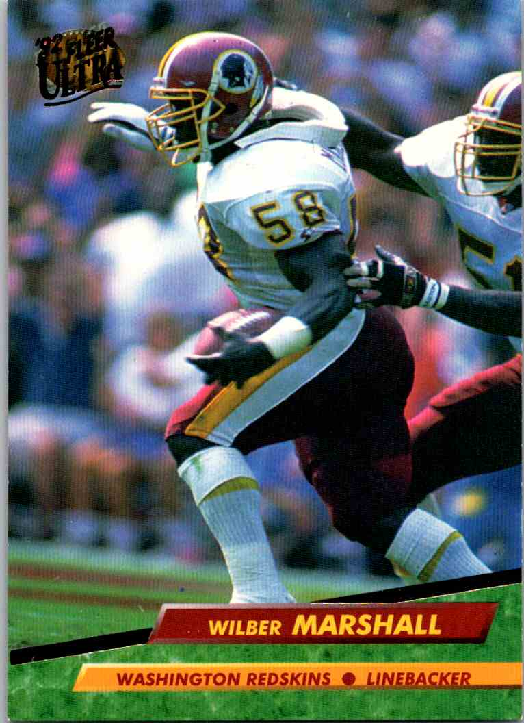 1992 Fleer Ultra Wilber Marshall #409 card front image