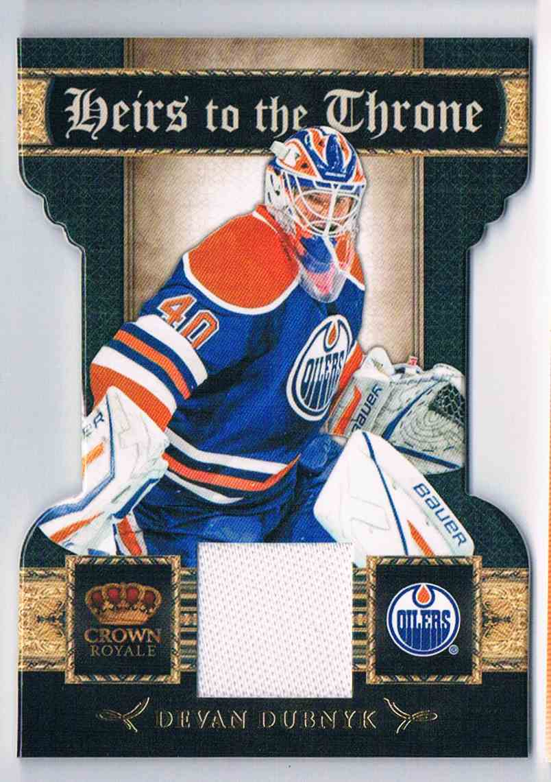 2011-12 Panini Crown Royale Heirs To The Throne Devan Dubnyk #15 card front image