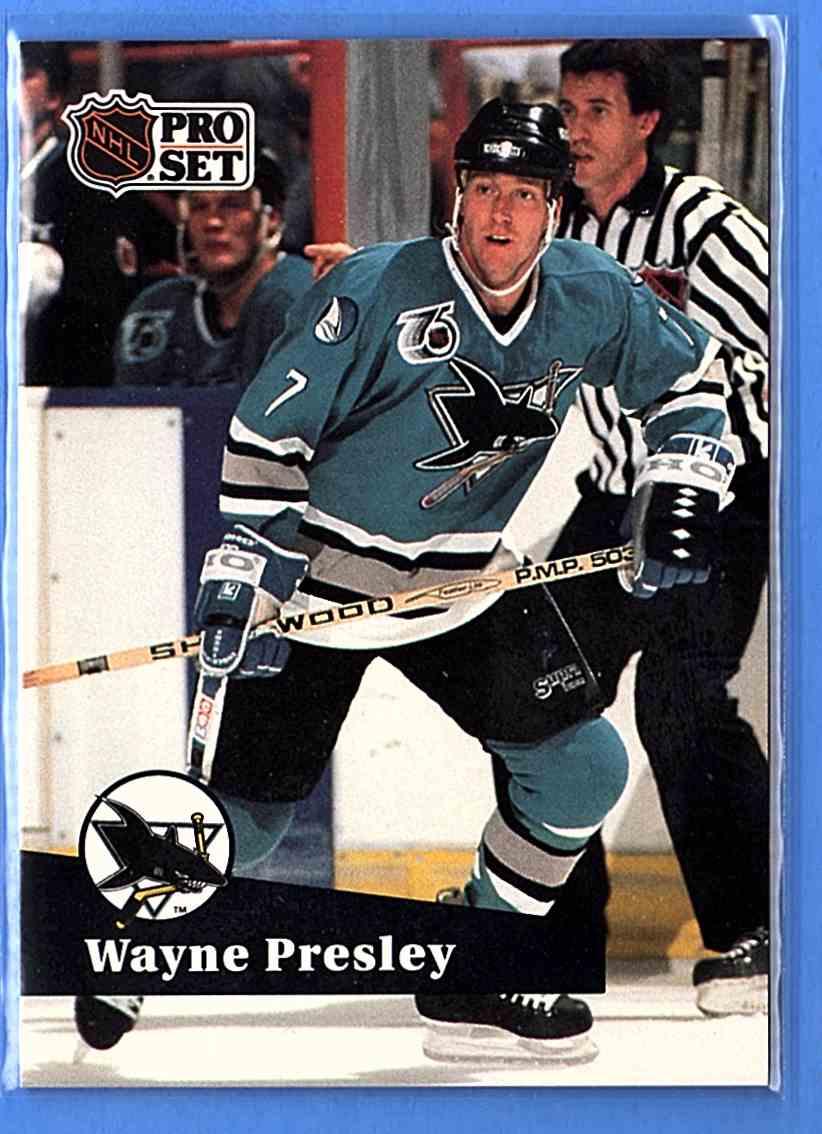 1991-92 Pro Set Wayne Presley #488 card front image