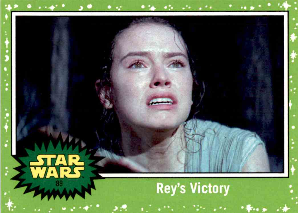 2017 Topps Star Wars Rey's Victory card front image