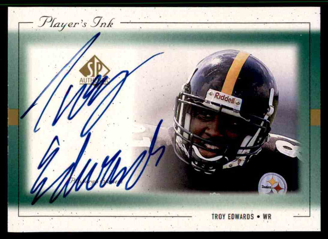 1999 SP Player's Ink Troy Edwards #TE-A card front image