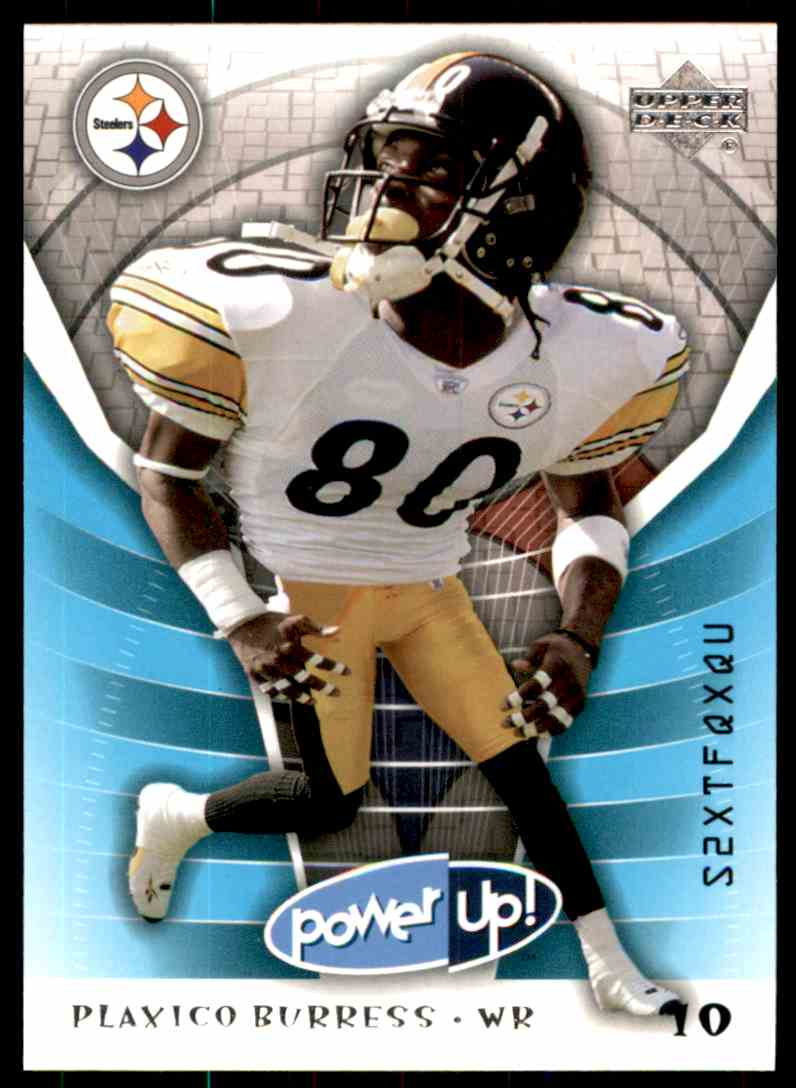2004 Upper Deck Power Up Plaxico Burress #78 card front image