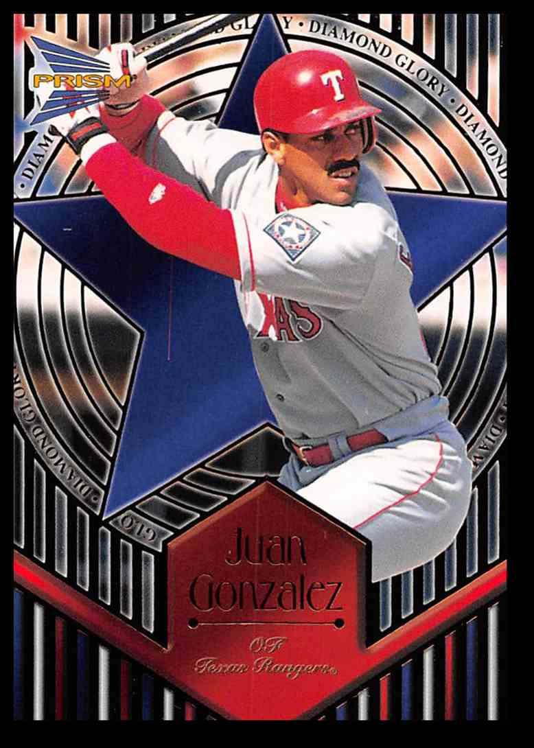 1999 Pacific Prism Diamond Glory Juan Gonzalez #20 card front image
