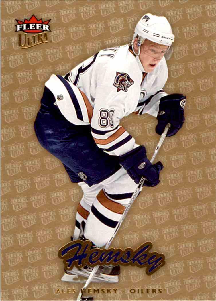 2006-07 Fleer Ultra Gold Medallion Ales Hemsky #76 card front image