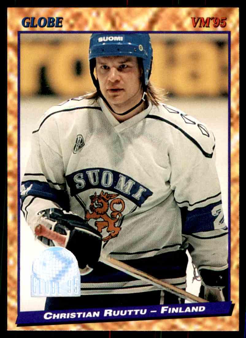 1994-95 Semic Christian Ruutu #143 card front image
