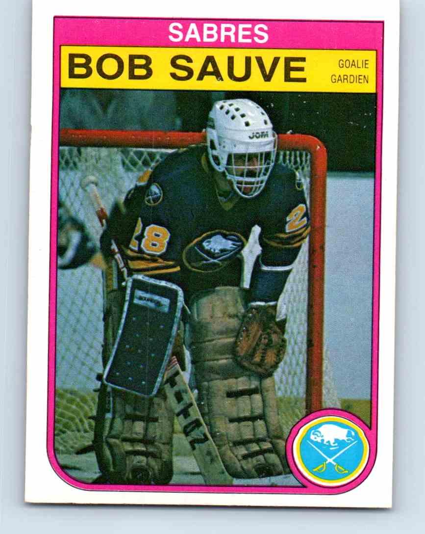 1982-83 O-Pee-Chee Bob Sauve #34 card front image