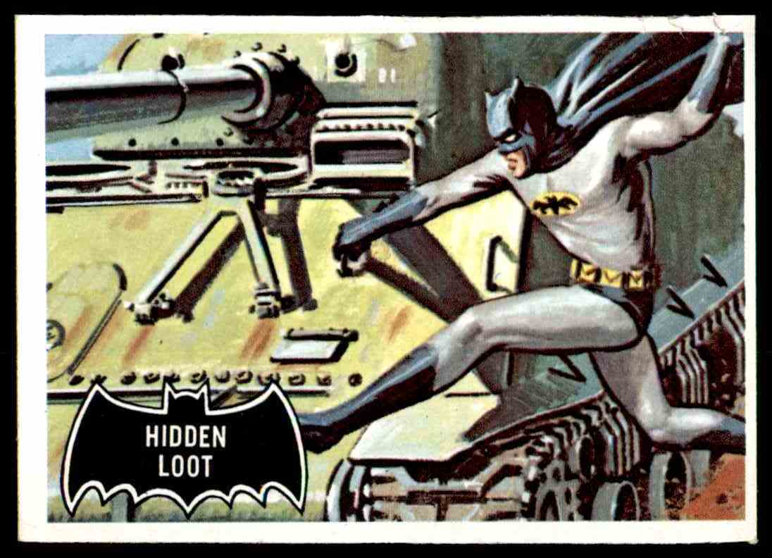 1966 Topps Batman Black Bat Hidden Loot #55 card front image