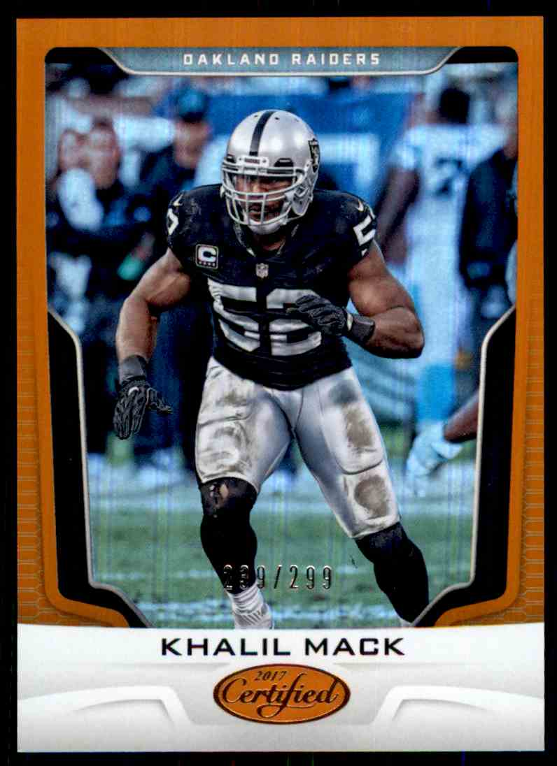 best service e3d39 7d637 2017 Panini Certified Mirror Orange Khalil Mack on Kronozio