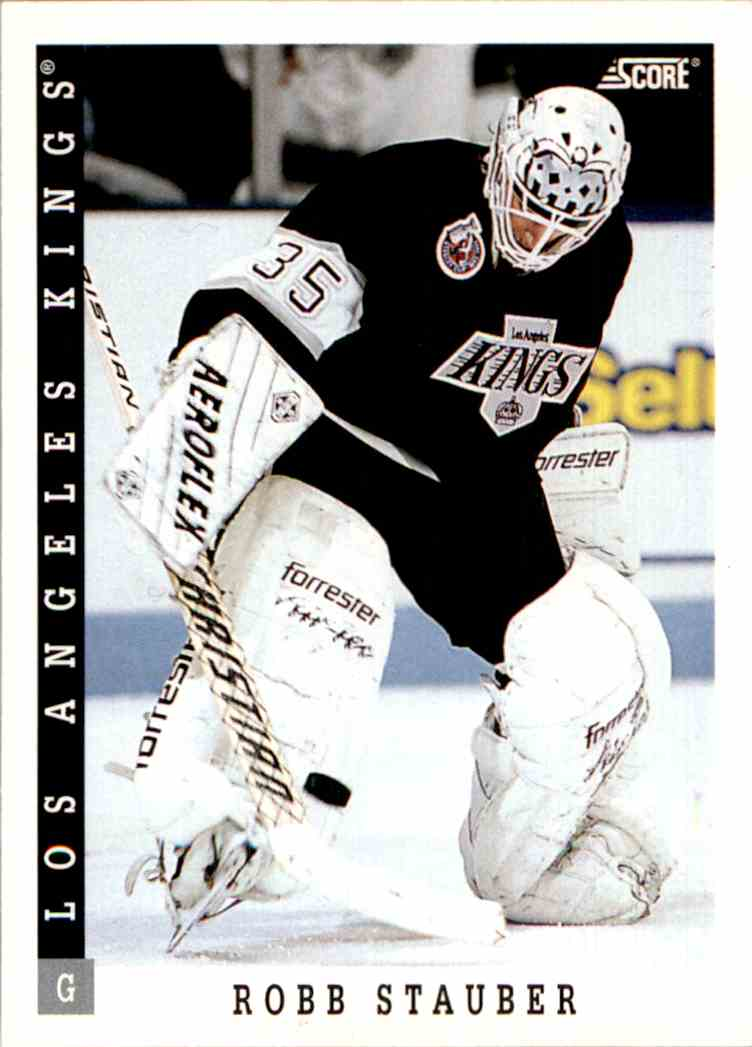 1993-94 Score Robb Stauber #346 card front image