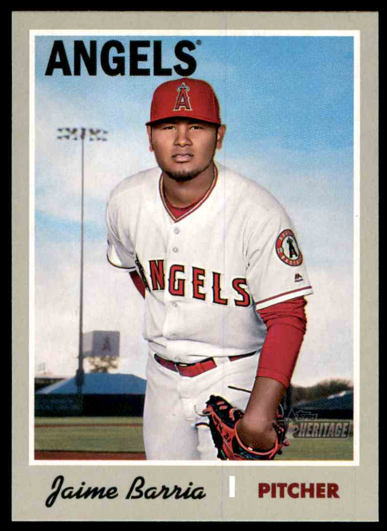 2019 Topps Heritage Jaime Barria #173 card front image