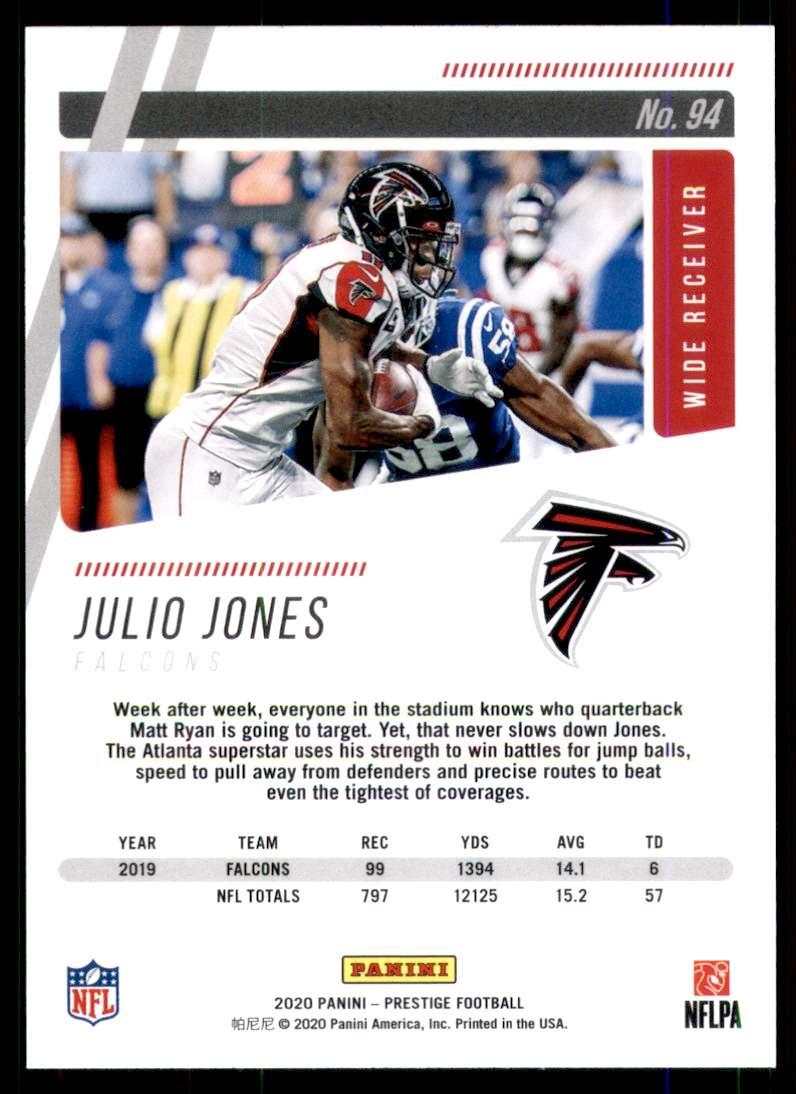 2020 Prestige Julio Jones #94 card back image