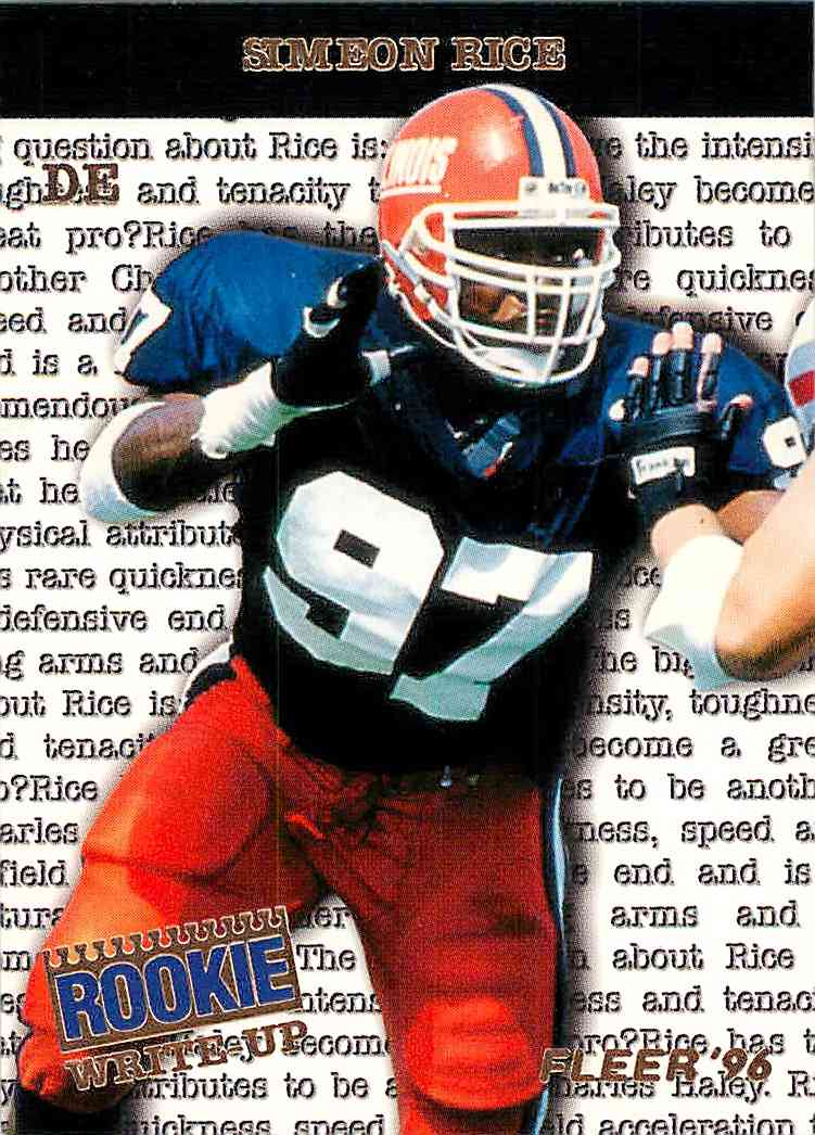1996 Fleer Skybox Simeon Rice #10 card front image